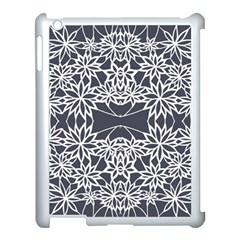 Blue White Lace Flower Floral Star Apple Ipad 3/4 Case (white) by Mariart