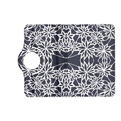 Blue White Lace Flower Floral Star Kindle Fire Hd (2013) Flip 360 Case by Mariart