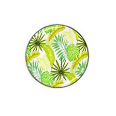 Amazon Forest Natural Green Yellow Leaf Hat Clip Ball Marker (4 Pack) by Mariart