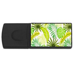 Amazon Forest Natural Green Yellow Leaf Rectangular Usb Flash Drive by Mariart