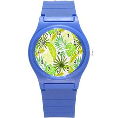 Amazon Forest Natural Green Yellow Leaf Round Plastic Sport Watch (s) by Mariart