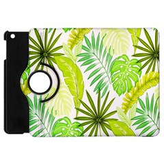 Amazon Forest Natural Green Yellow Leaf Apple Ipad Mini Flip 360 Case by Mariart