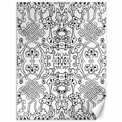 Black Psychedelic Pattern Canvas 36  X 48   by Mariart