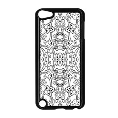 Black Psychedelic Pattern Apple Ipod Touch 5 Case (black) by Mariart