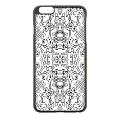 Black Psychedelic Pattern Apple Iphone 6 Plus/6s Plus Black Enamel Case by Mariart