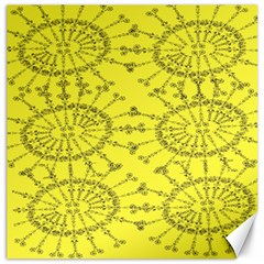 Yellow Flower Floral Circle Sexy Canvas 20  X 20   by Mariart