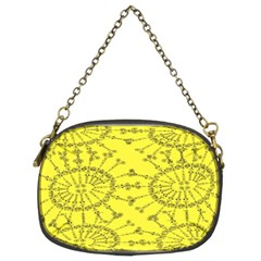 Yellow Flower Floral Circle Sexy Chain Purses (two Sides)  by Mariart