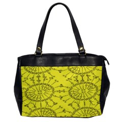 Yellow Flower Floral Circle Sexy Office Handbags by Mariart