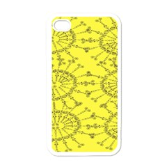 Yellow Flower Floral Circle Sexy Apple Iphone 4 Case (white) by Mariart