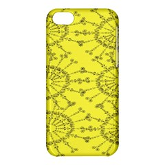 Yellow Flower Floral Circle Sexy Apple Iphone 5c Hardshell Case by Mariart