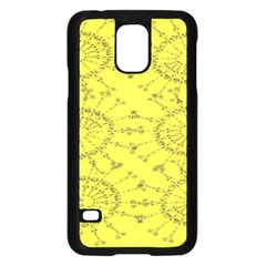 Yellow Flower Floral Circle Sexy Samsung Galaxy S5 Case (black) by Mariart