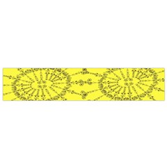 Yellow Flower Floral Circle Sexy Flano Scarf (small) by Mariart