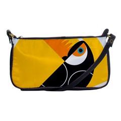 Cute Toucan Bird Cartoon Yellow Black Shoulder Clutch Bags by Mariart