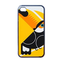 Cute Toucan Bird Cartoon Yellow Black Apple Iphone 4 Case (black) by Mariart