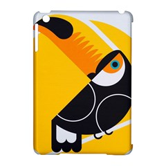 Cute Toucan Bird Cartoon Yellow Black Apple Ipad Mini Hardshell Case (compatible With Smart Cover) by Mariart