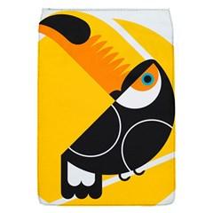 Cute Toucan Bird Cartoon Yellow Black Flap Covers (s)  by Mariart