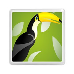 Cute Toucan Bird Cartoon Fly Yellow Green Black Animals Memory Card Reader (square)  by Mariart