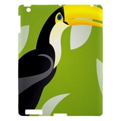Cute Toucan Bird Cartoon Fly Yellow Green Black Animals Apple Ipad 3/4 Hardshell Case by Mariart