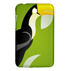 Cute Toucan Bird Cartoon Fly Yellow Green Black Animals Samsung Galaxy Tab 3 (7 ) P3200 Hardshell Case  by Mariart
