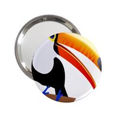 Cute Toucan Bird Cartoon Fly 2 25  Handbag Mirrors by Mariart