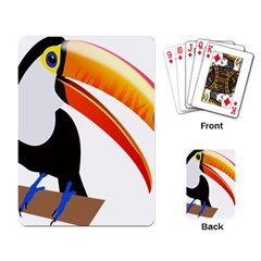 Cute Toucan Bird Cartoon Fly Playing Card by Mariart