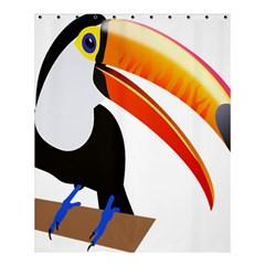 Cute Toucan Bird Cartoon Fly Shower Curtain 60  X 72  (medium)  by Mariart