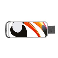 Cute Toucan Bird Cartoon Fly Portable Usb Flash (one Side) by Mariart