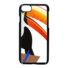 Cute Toucan Bird Cartoon Fly Apple Iphone 7 Seamless Case (black) by Mariart