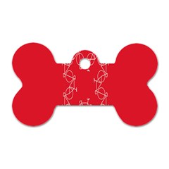 Cycles Bike White Red Sport Dog Tag Bone (two Sides) by Mariart