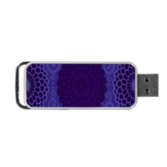 Flower Floral Sunflower Blue Purple Leaf Wave Chevron Beauty Sexy Portable Usb Flash (one Side) by Mariart