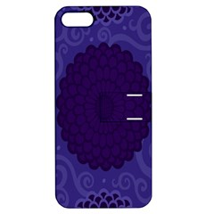 Flower Floral Sunflower Blue Purple Leaf Wave Chevron Beauty Sexy Apple Iphone 5 Hardshell Case With Stand by Mariart