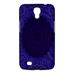 Flower Floral Sunflower Blue Purple Leaf Wave Chevron Beauty Sexy Samsung Galaxy Mega 6 3  I9200 Hardshell Case by Mariart
