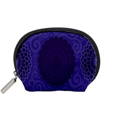 Flower Floral Sunflower Blue Purple Leaf Wave Chevron Beauty Sexy Accessory Pouches (small)  by Mariart