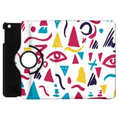 Eye Triangle Wave Chevron Red Yellow Blue Apple Ipad Mini Flip 360 Case by Mariart