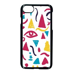 Eye Triangle Wave Chevron Red Yellow Blue Apple Iphone 7 Seamless Case (black) by Mariart