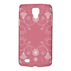 Flower Floral Leaf Pink Star Sunflower Galaxy S4 Active by Mariart