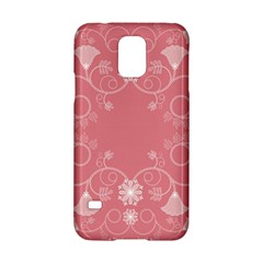 Flower Floral Leaf Pink Star Sunflower Samsung Galaxy S5 Hardshell Case  by Mariart