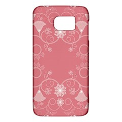Flower Floral Leaf Pink Star Sunflower Galaxy S6 by Mariart