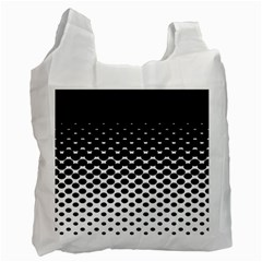 Gradient Circle Round Black Polka Recycle Bag (one Side) by Mariart