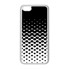 Gradient Circle Round Black Polka Apple Iphone 5c Seamless Case (white) by Mariart