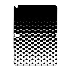 Gradient Circle Round Black Polka Galaxy Note 1 by Mariart