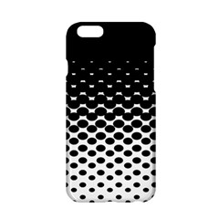 Gradient Circle Round Black Polka Apple Iphone 6/6s Hardshell Case by Mariart