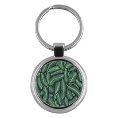 Coconut Leaves Summer Green Key Chains (round)  by Mariart