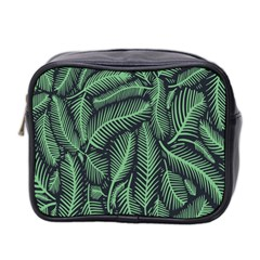Coconut Leaves Summer Green Mini Toiletries Bag 2 Side by Mariart