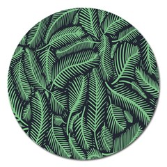 Coconut Leaves Summer Green Magnet 5  (round) by Mariart