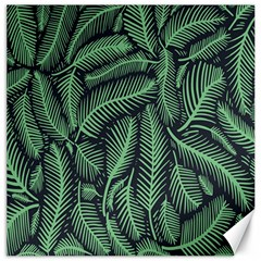 Coconut Leaves Summer Green Canvas 16  X 16   by Mariart