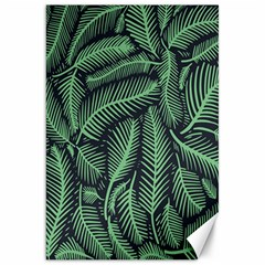 Coconut Leaves Summer Green Canvas 20  X 30   by Mariart