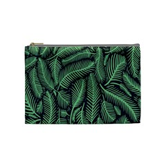 Coconut Leaves Summer Green Cosmetic Bag (medium)  by Mariart