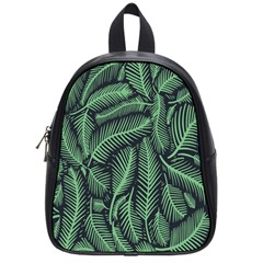 Coconut Leaves Summer Green School Bag (small) by Mariart