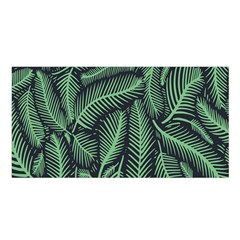 Coconut Leaves Summer Green Satin Shawl by Mariart
